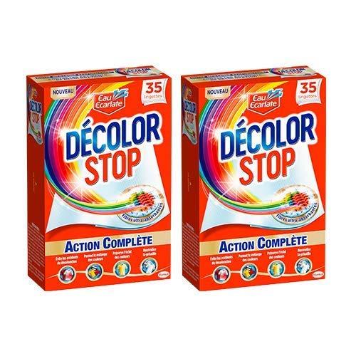 Eau Ecarlate Décolor Stop Action Complète - 35 lingettes - Lot de 2
