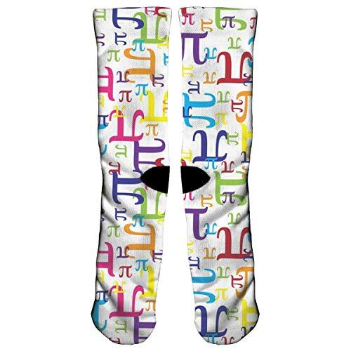 Preisvergleich Produktbild ouyjian Pieces of Pi (Small) Athletic Sports Socks, Travel & Flight Socks, Painting Art Printed Funny Socks.