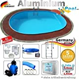 Aluminiumpool Ovalpool 7,15 x 4,00 x 1,50 Set Schwimmbecken Alu Swimmingpool 7,15 x 4,0 x 1,5 m Ovalbecken Alupool oval Pool Aluminium Pools Einbaupool Gartenpool Sets Komplettset