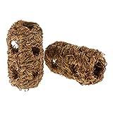 Homyl 2 Stück Kleintier Spieltunnel Gras Röhre Tunnel Spielzeug für Hamster, Meerschweinchen, Ratte, Maus, Frettchen, Eichhörnchen, Kaninchen - Typ 1