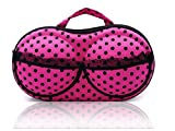 #8: Travel Organizer Bra Bag/Lingerie Bag/Panties Bag   Travel Portable Storage Underwear Bag  Protect Bra Innerwear Bag Pouch with net Pocket for Women (Color & Design May Vary