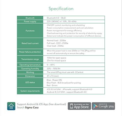 Sigma Casa Smart Power Kit – Einstieg für Smart-Home Haus-Automatisierung mit Smart Gateway und 2x Smart Power Plug – intelligente Steckdose (Messung Energieverbrauch) als Zeitschaltuhr oder zur Fern-Steuerung Ihrer Haushaltsgeräte - 9