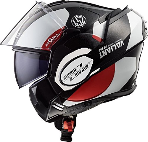 LS2, Valiant Convert DVS, casco per moto con visiera posizionabile, modello FF399