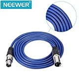 Neewer® 6-Pack 6.5ft/2 m XLR Male to XLR Female Microphone Balanced Snake Cable Rubber Sealed Lead (Green, Blue, Purple, Red, Yellow and Orange)