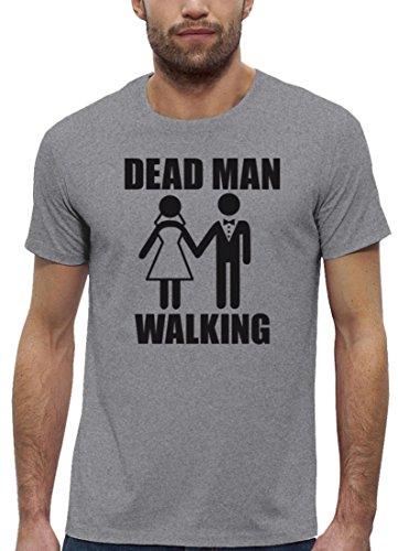 JGA Premium Herren T-Shirt aus Bio Baumwolle JGA 38 - DEAD MAN WALKING Stanley Stella Heather Grey