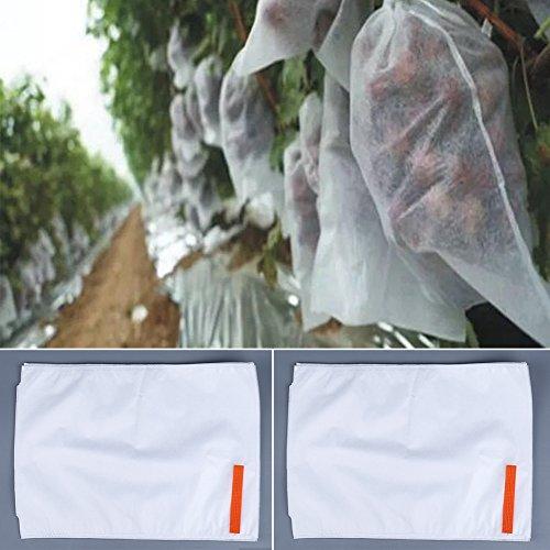 Fruit Saver 50Schutz Staubbeutel Garten Pflanze Netz Fly Bug Control Keep Out Off Vögel, Hirsch Away von Patio Crops weiß, Garden Fruit Flower Schutz Tasche 25*32cm weiß