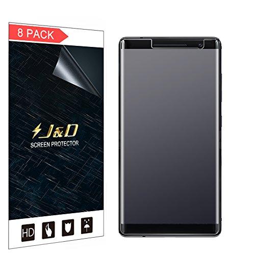 J und D Kompatibel für 8er Packung Nokia 8 Sirocco Bildschirmschutzfolie, [Antireflektierend] [Anti Fingerabdruck] [Nicht Ganze Deckung] Matte Folie Schutzschild Bildschirmschutzfolie für Nokia 8 Sirocco