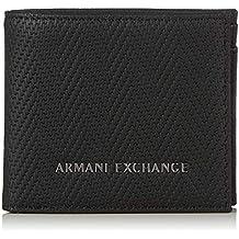 f697dc9249 ARMANI EXCHANGE Logo Coin Case - Portafogli Uomo, Nero (Black Chevron),  9x1x11