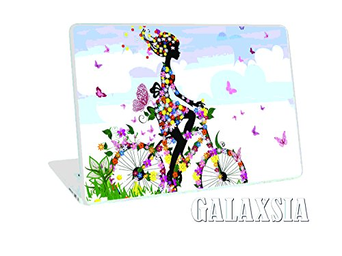 "Galaxsia Butterfly Happy Girl NEW 11.6"" 12.1"" 13"" 13.1"" 13.3"" 14"" 15"" 15.4"" 15.6"" Laptop Notebook Vinyl Skin Sticker Cover Art Decal Protector Cover Case for 11.6"" -15.6"" Inch Toshiba Hp Samsung Dell Apple Acer Leonovo Sony Asus Laptop Notebook"