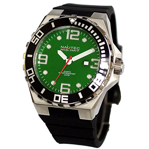 Nautec No Limit men's Quartz Watch Analogue Display and Rubber Strap STUR-QZ-RBSTBK-GR