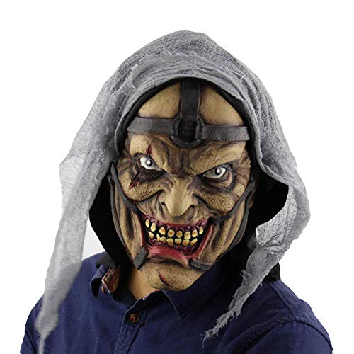 QJKai Halloween Horror Monster Ball Party verkleiden Sich Props Schöpfkelle Ghost Mask