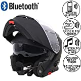 Leopard LEO-727 BL-A4 Anti-fog Visor Flip up Motorbike Bluetooth Helmet Motorcycle Dual-Speaker Headset,Hands-Free