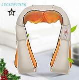 Masseur de cou et d'épaule Technologie Shiatsu profonde avec chaleur, chaise de voiture/bureau Massager, cou, épaule, dossier AMQ-6 LUCKYBUYING