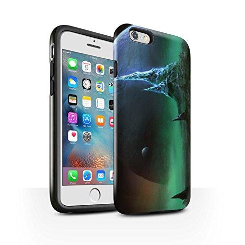 Offiziell Chris Cold Hülle / Glanz Harten Stoßfest Case für Apple iPhone 6+/Plus 5.5 / Pack 12pcs Muster / Fremden Welt Kosmos Kollektion Saphir Spitzen