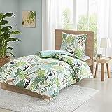SCM Tropical Sets de Housses de Couettes, Parure de lit Avec Housse de Couette en Coton (Green, 135x200cm+80x80cm)