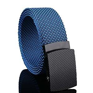 YK Tactical Outdoor Gürtel Versprechen verstellbar Leinwand Gürtel Hoher Qualität Schnell trocknend Nylon Mesh mit automatischer Schnalle 3,8cm breit 119,4cm lang
