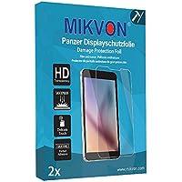 MIKVON 2x Película blindada protección de pantalla Doro Primo 413 Protector de Pantalla - Embalaje y accesorios (Intencionadamente es más pequeña que la pantalla ya que esta es curva)
