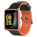 WCPZJS N88 Smart Watch Professionelle Wasserdichte Herzfrequenz-Blutdruck-Sportüberwachungs-Anrufe SMS erinnern Anti-verlorene Gsensor Armbanduhr