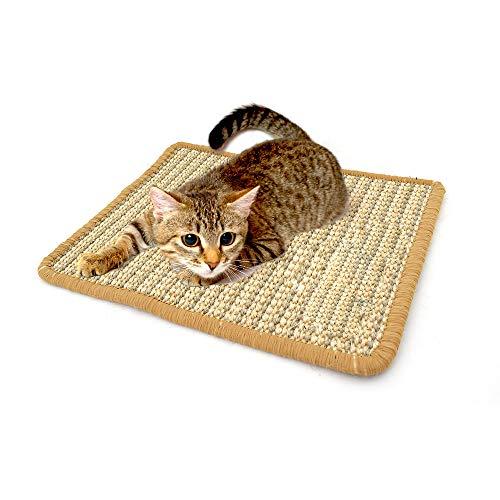 Galapara Katzen-Kratzmatte Katzenteppich,Scratch Katzenspielzeug,Rutschhemmend,Sisal-Matte, Geeignet für Fußbodenheizung, Sisalteppich für Wand & Boden