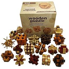 Joyeee 18 Pezzi Legno Rompicapo Torsione Cube Puzzle Game 3D – Gioco di Mente Cubo