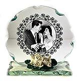 25., 30., 40., 50., 60. oder anderen Hochzeitstag geschliffenes Glas personalisierbar Plaque Rahmen Einzigartiges Geschenk