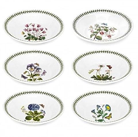Portmeirion Botanic Garden Soup Plate, Set of 6 Assorted Motifs by Portmeirion
