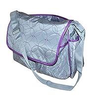 warenplus2014 1 Changing Bag, Silver Grey/Purple, Shoulder Straps Bag Baby Grey Baby Bag