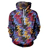 Hip Hop 3D Sweatshirt Männer Trainingsanzug Flash Elektrische Wellenmuster Hoodies Flash Hoodie L