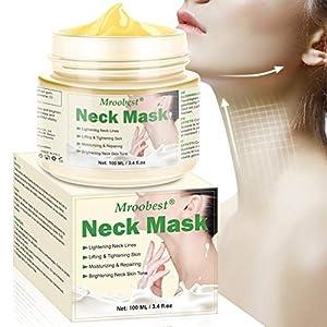 Cabra Leche Antiarrugas Máscara para el cuello Apriete de la piel Reafirmante Blanqueamiento Máscara para el cuello…