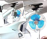 #4: NIKAVI 12V 6 inch Car Oscillating Fan Automobile Car Fan Vehicle Cooling Fan With Clip Cigarette Lighter Plug Black