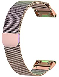 Miss de a magnética Milanese de Repuesto de Reloj de Pulsera, 26mm para Garmin fenix5X Fenix 5x Inteligente Reloj Ajustable