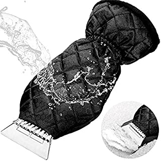 KJLM Ice Scraper for Cars Premium Ice Scraper with Soft Grip Heavy-Duty Frost & Snow & Water Removal for Car Windshield and Window (Black)