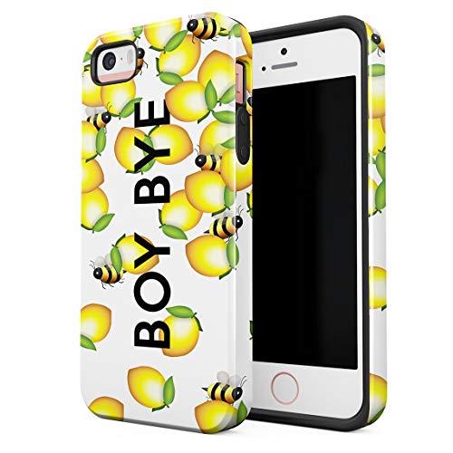Cover Universe Hüllen für iPhone 5 / 5s / SE Hülle, Boy Bye Cute Bumblebees & Lemons stoßfest, zweilagig mit Hardcase aus PC + Hülle aus TPU, hybride Case Handyhülle (Iphone 5 Queen Bee)