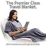 Travelrest 4-in-1 - Poncho-Reisedecke mit Tasche - Bedeckt die Schultern - Weich & Luxuriös