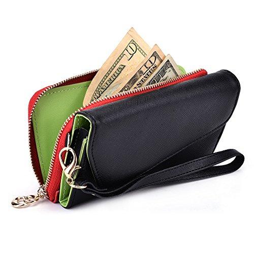 Kroo d'embrayage portefeuille avec dur et bandoulière Sangle pour BlackBerry