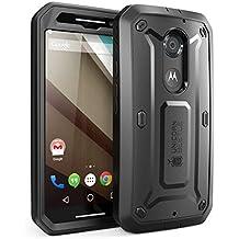Carcasa Moto X+1 - SUPCASE Google Motorola Moto X+1 Funda hibrida Unicorn Beetle PRO Series con protector de pantalla, diseño de doble capa/ resistente a impactos para el Moto X Plus One Case (Negro/Negro)