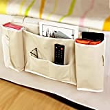 Coquimbo 5 Pocket Bedside Caddy Hanging Storage Organizer Bag for Books,Phones,Tablets,Cabinet TV Remote,Glasses,Magazines