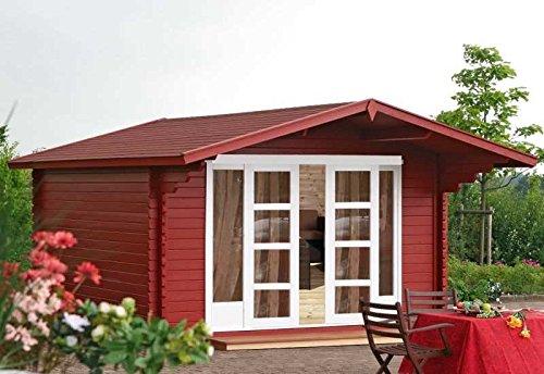 Wolff Finnhaus Gartenhaus Kaya 44-A ST mit Schiebetür