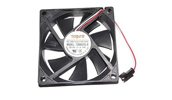 N A Cooling Fan TD9025LS,Server Cooler Fan TD9025LS 12V 0.16A Hotel Refrigerator Silent Fan for 90x90x25mm 2-Wire