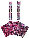16 tlg. Set Pferde 8 Bleistifte mit Radiergummi + 8 Stickerbogen Mitgebsel Kindergeburtstag Pony