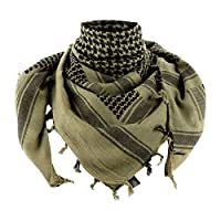M-Tac Tactical Shemagh Desert Scarf Wrap High Density Cotton (Green/Black)
