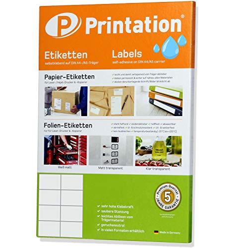 Etiketten 105 x 74 mm WETTERFEST transparent auf DIN A4 Bogen - 2 x 4 Stück/Seite 80 Folienetiketten 105x74 Laser Drucker bedruckbar selbstklebend bedruckbar mit Laser Drucker (10)