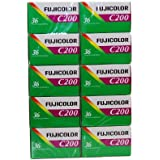 Fuji 10pellicules 35mm 200/36–RZ de 10pièces.–Film–Molette–Photographie