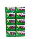 10x Fujifilm – C200 Fotofilm, 35 mm, 36 Aufnahmen, Kleinbildfilm