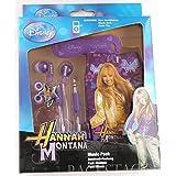Emartbuy ECHTEN Disney Hannah Montana Music Pack von Purpur in Ear-Stereo-Kopfhörer, Kabel ordentlich und Pouch / Gehäuse / Abdeckung / SOCKS passend für Sony Xperia Sola