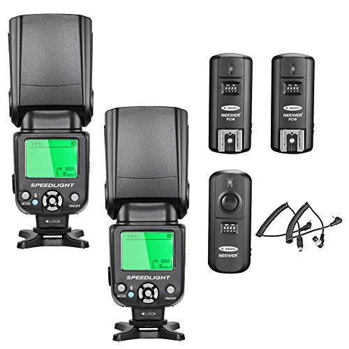 Neewer NW-562 i-TTL Kit Speedlite Flash per Fotocamera DSLR Nikon