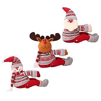 Decoración navideña wendaby Cortina navideña Hebilla Decoraciones navideñas Papá Noel Adorno de muñeco de nieve Festival Fiesta Navidad Regalos de Navidad