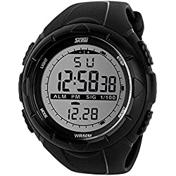 SKMEI Analog-Digital Green Dial Men's Watch-DG1025 (GENT SIZE BLK)