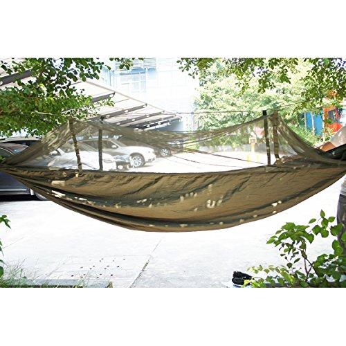 Antye® Tragbaren Nylon Gewebe Reisen Camping Hängematte Für Eine Person Mit Moskitonetzen Hochfester Nylon Hängematte (grün)