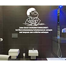 Wandtattoo WC Toilette Spruch U0027Liebe Gästeu0027 Wand Sticker Aufkleber Klo  1K245, Farbe: